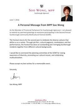 Letter from Soo Wong